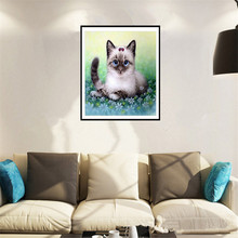 DIY 5D Diamond Embroidery Diamond animals cat Round Diamond Painting Cross Stitch Kits home decoration ZS254