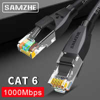 Câble de raccordement Ethernet SAMZHE Cat6-ordinateur RJ45, PS2, PS3, cordons de réseau local XBox 0.5/1/1.5/2/3/5/8/10/12/15/20/25/30/40/50/80m