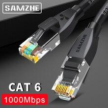 SAMZHE Cat6 Cable de parche Ethernet ordenador RJ45, PS2,PS3,XBox, cables de red LAN 0,5/1/1.5/2/3/5/8/10/12/15/20/25/30/40/50/80m