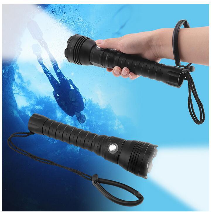 Bright XHP70.2 LED Diving Flashlight XHP70 Tactical ...
