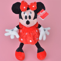 Red Skrit Minnie Plush Toy 35cm Baby Gift Kids Doll Wholesale With Free Shipping