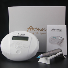 Тату машинка для перманентного макияжа бровей с цифровой панелью управления, Вращающаяся ручка для бровей и губ Artmex V6