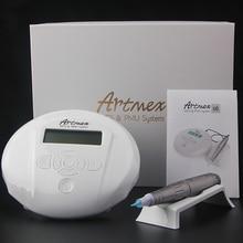 Kalıcı makyaj kaş dövme makinesi dijital kontrol paneli ile mikropigmentasyon cihazı göz kaş dudak döner kalem Artmex V6