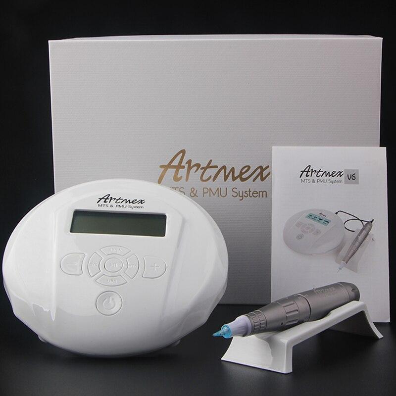 Máquina de Tatuagem permanente Maquiagem Sobrancelha Com Painel de Controle Digital Dispositivo de Micropigmentação Sobrancelha Lip Rotary Caneta Artmex V6