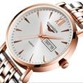 Guanqin homens relógios de negócios de luxo marca de topo de quartzo-relógio de aço de prata dos homens moda casual relógios relógio de pulso masculino