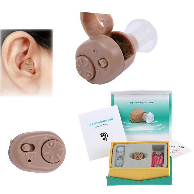 Portátil Dispositivo de Tom para Ear Amplificador de Som Aparelhos Auditivos Invisíveis Aparelho Auditivo Digital sem fio Mini no Ouvido para o idosos