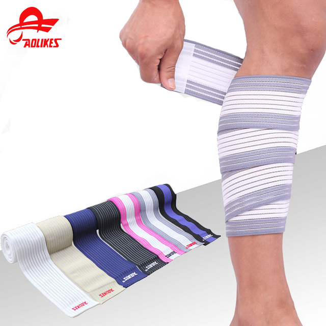 ecf0a9e9c0 Elastic Bandage Tape Sport Knee Support Strap Shin Guard Compression  Protector For Calf Support Brace
