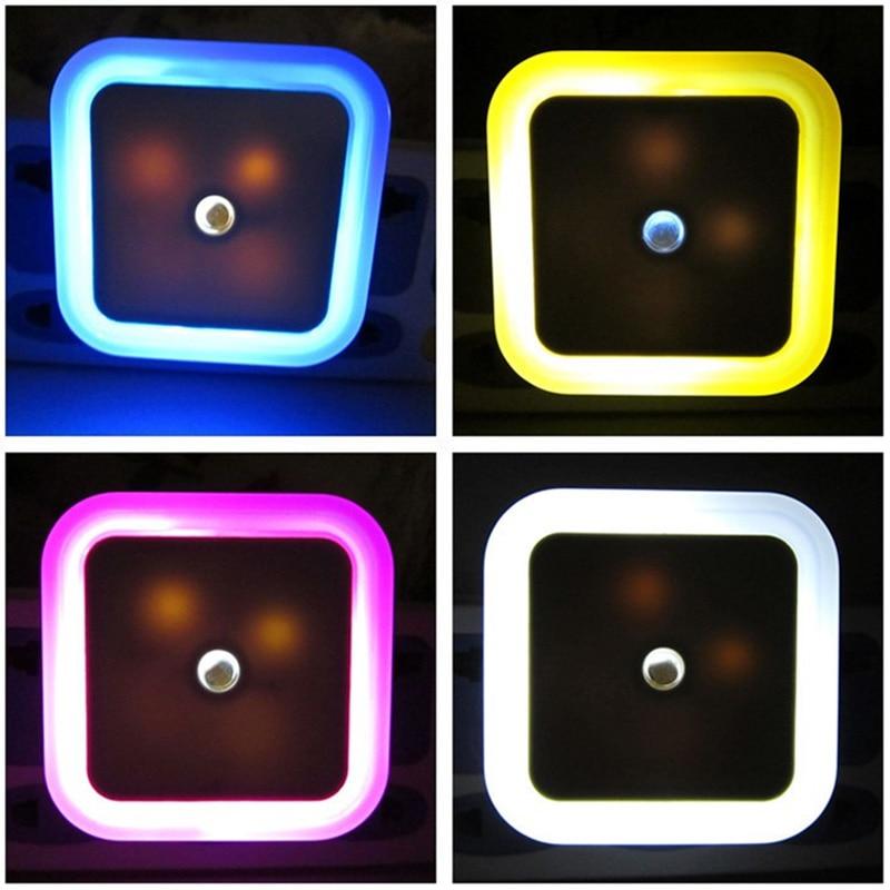 Creative Plug Socket LED Wall Night Light Automatic Energy Saving Light Sensor Control Bedroom Decoration Lamp Nightlight