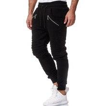 Men Joggers Pants 2019 Autumn New Mens Sweatpants Leisure Black Color Casual Workout Slim Fit Trousers