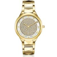 New Simple Woman Quartz Watches Ladies Steel Bracelet Gold Watch Top Brand Luxury Waterproof Watch Full Drill Relogio Feminino