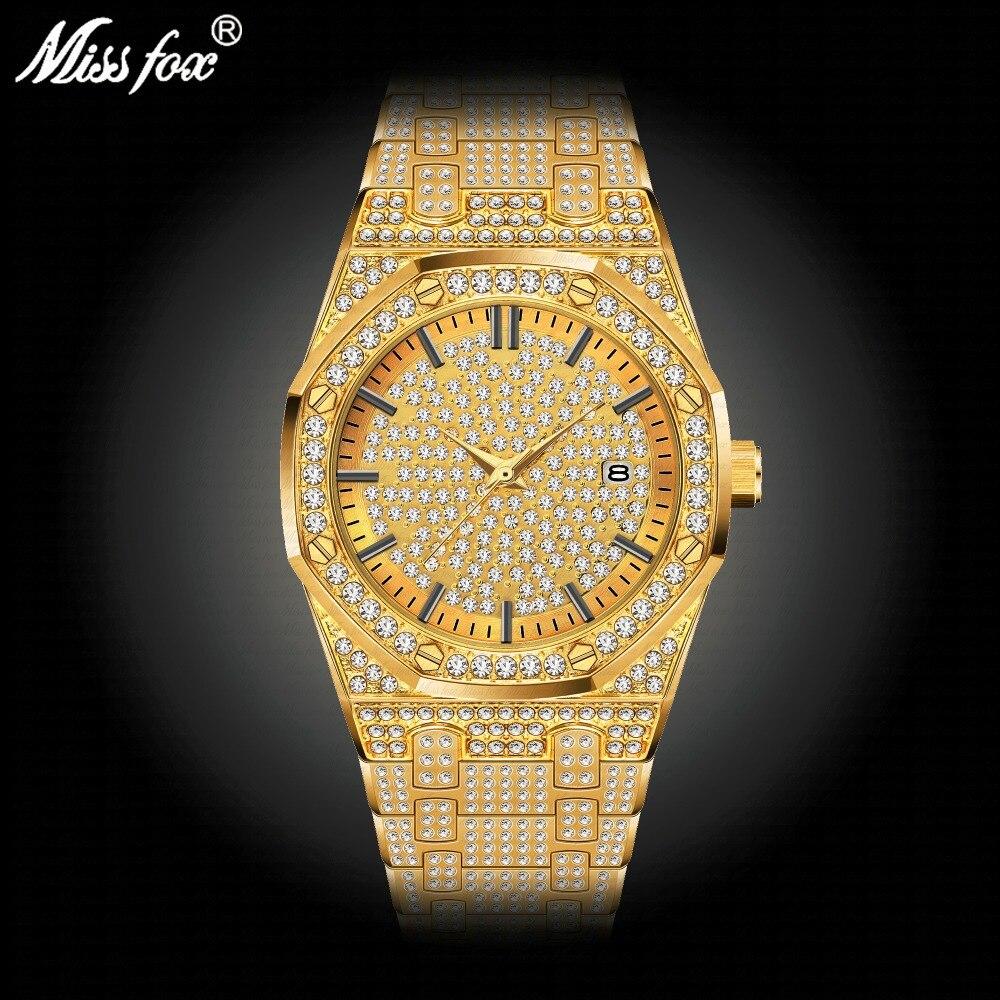 Montres de luxe pour hommes à la mode classique montre-bracelet à quartz miborough couleur or 30 m étanche garçon ami père; s cadeau