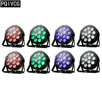 8pcs/ 12x12W led Par lights RGBW 4in1 flat par led dmx512 disco lights professional stage dj equipment