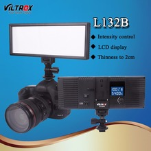 Viltrox L132B LED Estúdio Luz de Vídeo Lâmpada Pannel Display LCD 5400 K Dimmable Dimmable Ultra Fino para DSLR Camera Camcorder DV