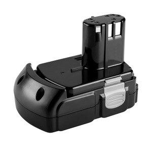Image 4 - Batterie Rechargeable au Lithium 18V 2.0Ah pour Hitachi BCL1815 BCL1830 EBM1830 DS18DFL CJ18DL DS18DL WR18DMR outils électriques Batteria