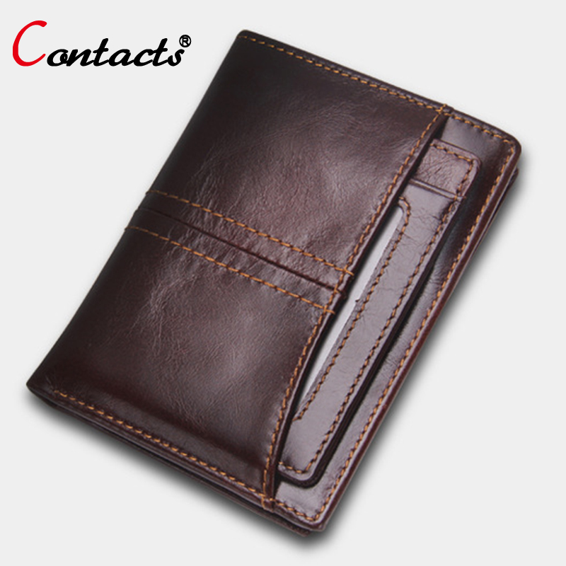 CONTACT'S Mens Wallet Leather Genuine Men Wallets Short Leather Wallet Purse Brand Card Holder Small Male Clutch Bags Purses New велосипед stels navigator 380 2016