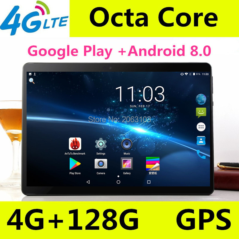 100% Original T900 Tablet PC 4GB RAM 128GB ROM MediaTek MTK8752 10 Inch 5500mAh Android 8.0 GPS 8.0 MP Camera 3G 4G Tablets