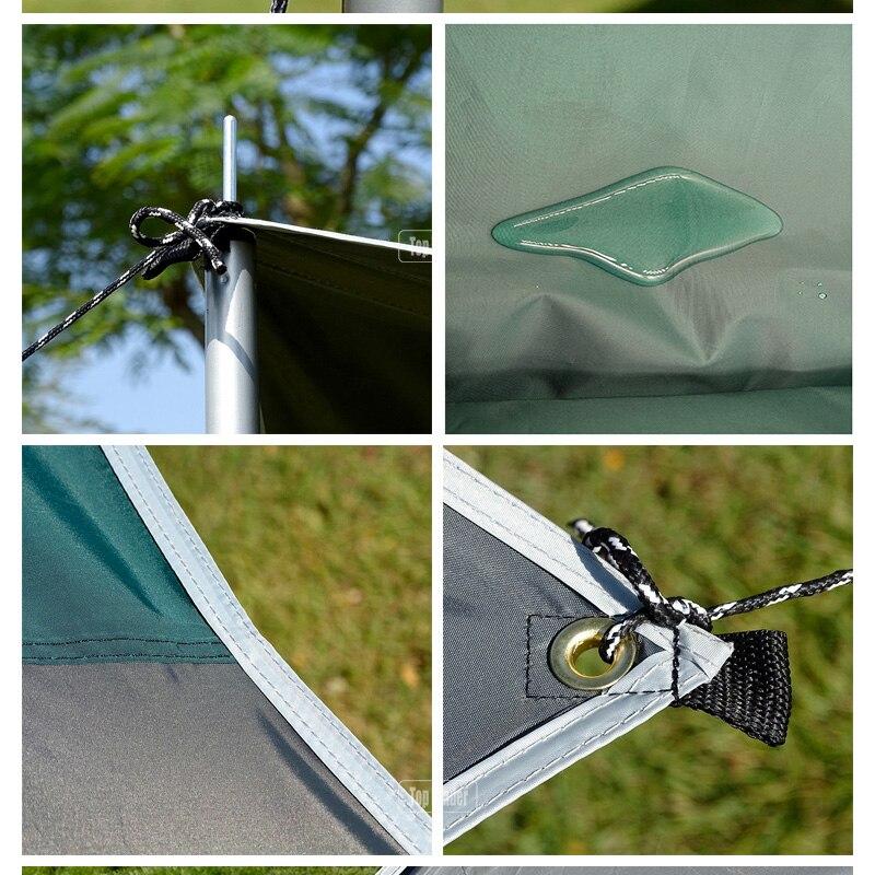 Tente de Camping ultralégère bâche imperméable Super grand hamac mouche de pluie Portable auvent tente auvent plage ombre avec chevilles cordes - 4