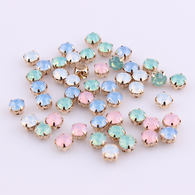 US $2.1 18% OFF|ss28 6mm Blue/Green/White/Pink Opal Sew On Rhinestone Crystal Gold Claw Strass Diamond Stones For DIY Decoration-in Rhinestones from Home & Garden on Aliexpress.com | Alibaba Group
