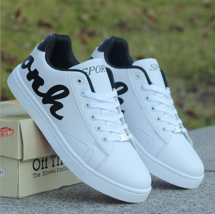 Teen spring and autumn tide shoes men s casual shoes black and white shoes student