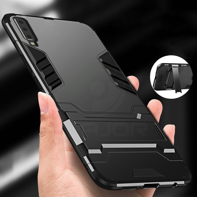 Чехол для samsung Galaxy A7 2018 силиконовый чехол coque ударопрочный доспехи TPU + PC жесткий чехол для samsung 7 2018 A750 чехол для телефона