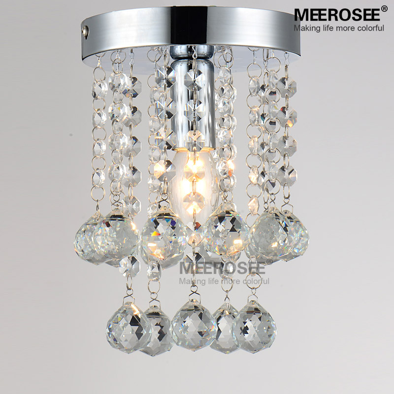 1 light crystal chandelier light fixture small clear crystal lustre 1 light crystal chandelier light fixture small clear crystal lustre lamp for aisle stair hallway corridor porch light in chandeliers from lights lighting aloadofball Choice Image