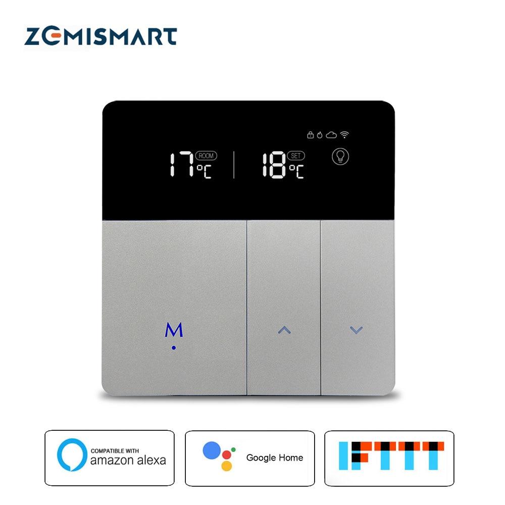 WiFi Thermostat For Electric Floor Heating Tuya Alexa Google Home Control Warm Underfloor Heater Thermostat 16A 110V-240V