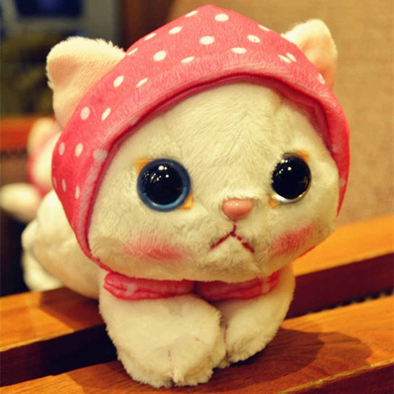 248a19d837c ... Super cute Big Eyes Garfield Cat With Hat plush toy soft doll Anime toy  baby kids ...