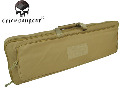 ФОТО EMERSON 1000D Tactical Airsoft Waterproof Gun Case Military 85cm Dual AEG Rifle Carrying Case Bag Enhanced Weight Gun CS Case