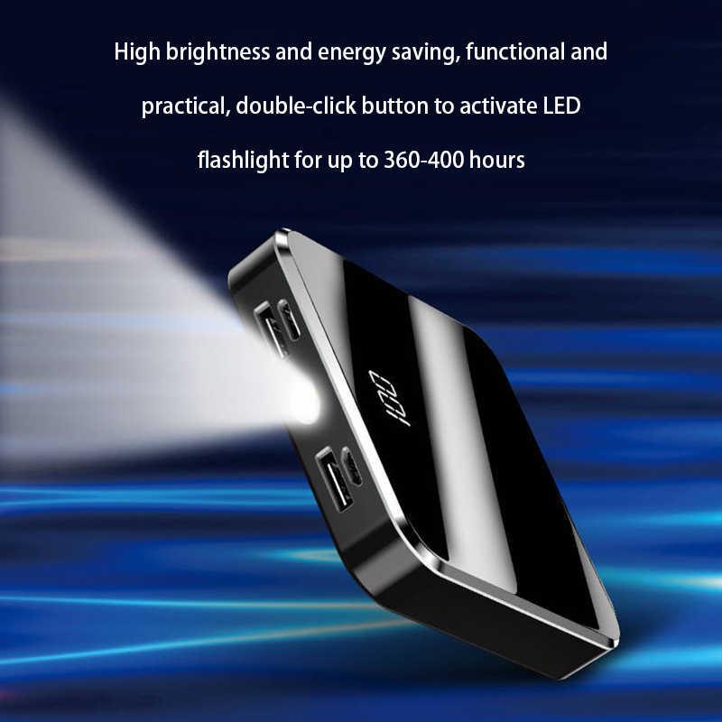 20000mAh Portatile Mini Accumulatori E Caricabatterie Di Riserva Dello Schermo Dello Specchio Display A LED Powerbank Batteria Esterna Poverbank Per Il Telefono Mobile Astuto