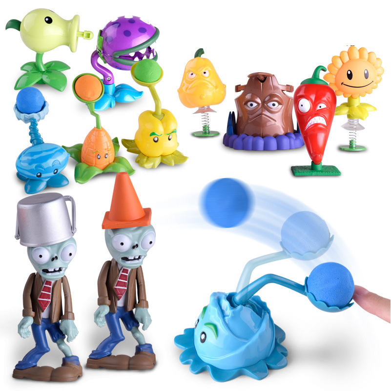 все цены на 1 Set Plants vs Zombies Action Figure Toys Plastic Plants vs Zombies Puppets kit for Children Collection