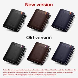 Image 3 - LAORENTOU Men Wallet Genuine Leather Card Holder Man Luxury Short Wallet Purse Zipper Wallets Casual Standard Wallets for Male