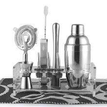 Barware/Geschenk Set, Shaker Set/10 Stücke enthält Zinn, Jigger, Eiszange, sieb, Rack, ausgießer, Muddler & Löffel