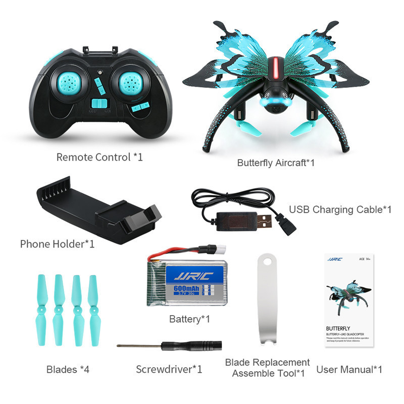 JJR C JJRC H42WH WIFI FPV Voice Control Altitude Hold Butterfly like RC FPV Drone Dron Quadcopter Helicopter for Kids Toy Gift in RC Helicopters from Toys Hobbies