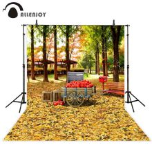 Allenjoy photography background Autumn leaves gold forest nature tree backdrop photobooth photocall photo shoot prop decor