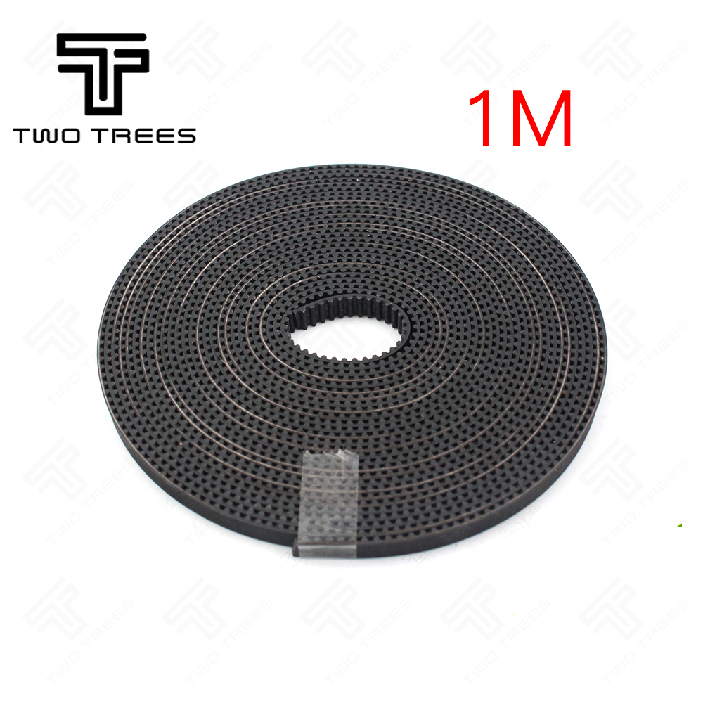 1M 2M 3M Belt Rubber GT2 Open Timing Belt Width 6mm GT2-6mm for 3D Printer RepRap Mendel Rostock CNC GT2 Belt Pulley wholesale 3d printer synchronous gt2 belt for reprap ultimaker other printer 1m length free shipping