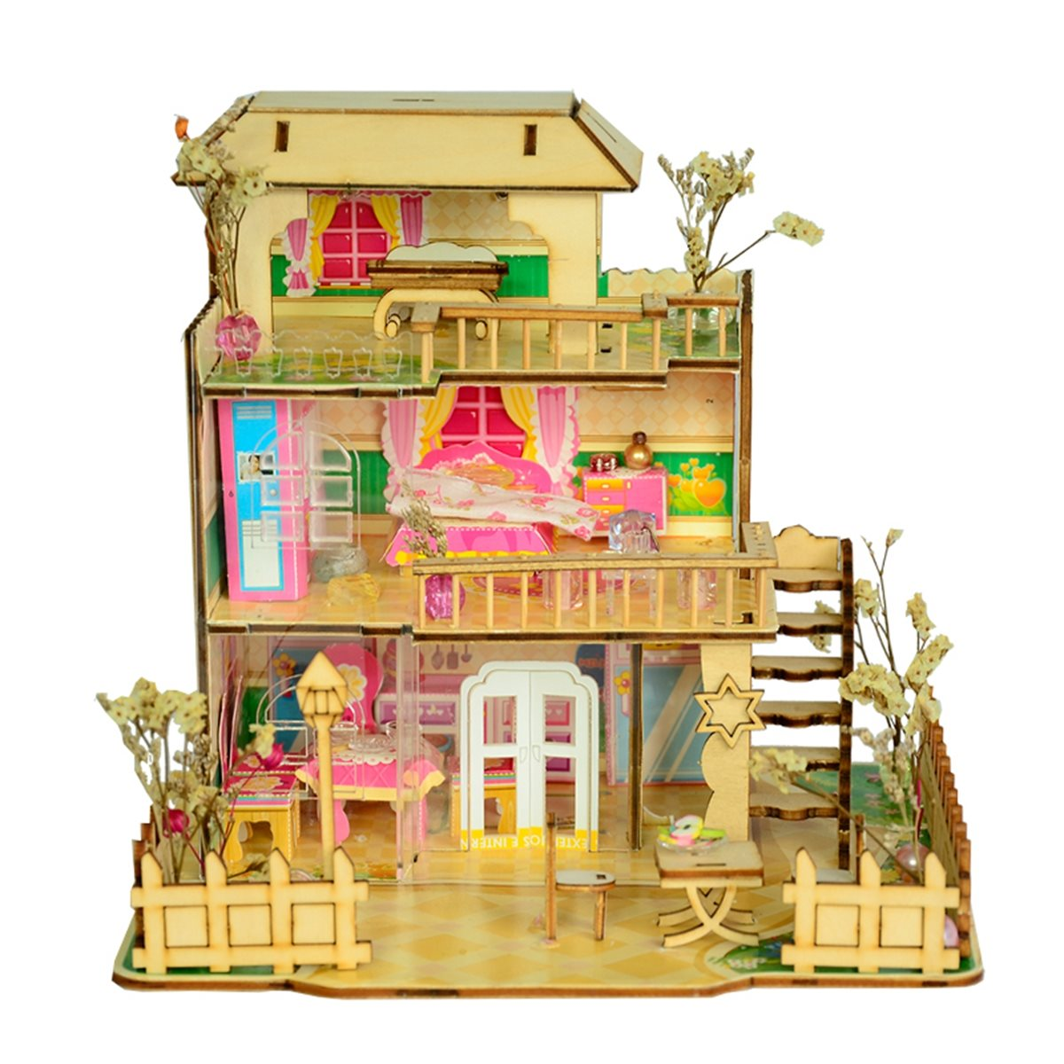 merry provence house room diy dollhouse kit with led light wood decoration miniaturas dollhouse toys for children birthday gifts - Small House Kit