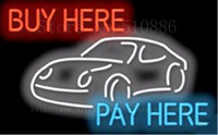 Buy Here Pay Here With Graphic Auto Car Repair Real Tube Car Neon Sign Handcrafted Automotive