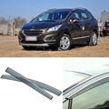 4pcs Blade Side Windows Deflectors Door Sun Visor Shield For Peugeot 3008 2010-2013
