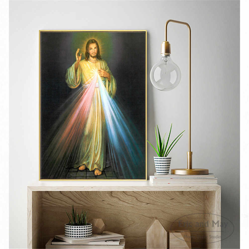 Jesus Light Canvas Painting Wall Art Nordic Decoration Home Modern Poster For Living Room Unframed Print Pictures