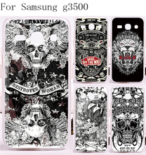 2016 New Print Scared Skull Head Phone Cover For Samsung Galaxy G3500 Case Ghosts Stylish Back Plastic and Silicon Phone Housing