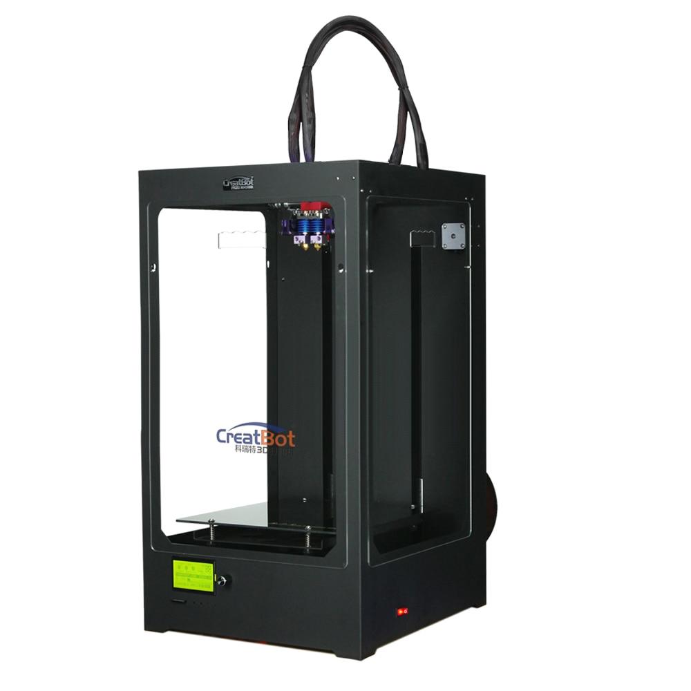 Creatbot Black Color Metal Frame FFF Desktop 3D Printer Kit E3DV6 extruder Free 2KG Filament And LCD DM PLUS 02(DH02) fff fff free for fever