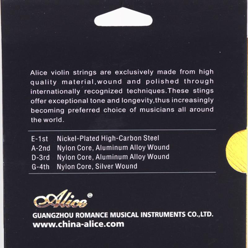 Vioolsnaren Alice A747 vernikkeld Hoog koolstofstaal Nylon cor - Muziekinstrumenten - Foto 3