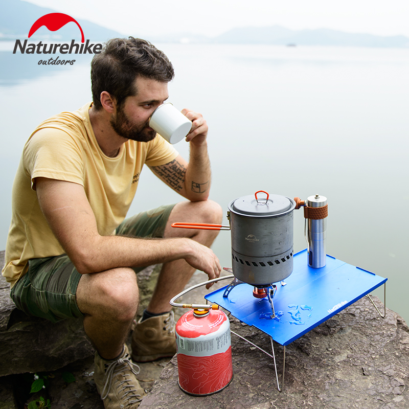 NatureHike Outdoor Outdoor Aluminum Alloy Table Super Light Portable Folding Table Mountaineering Camping Mini Table