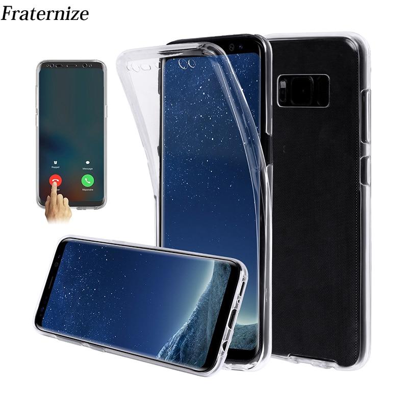 360 Full Body Cover Case For Samsung Galaxy S8 Plus Phone Cases Soft TPU Back Cover For Samsung J3 J330 J5 J530 J7 J730 2017 Pro