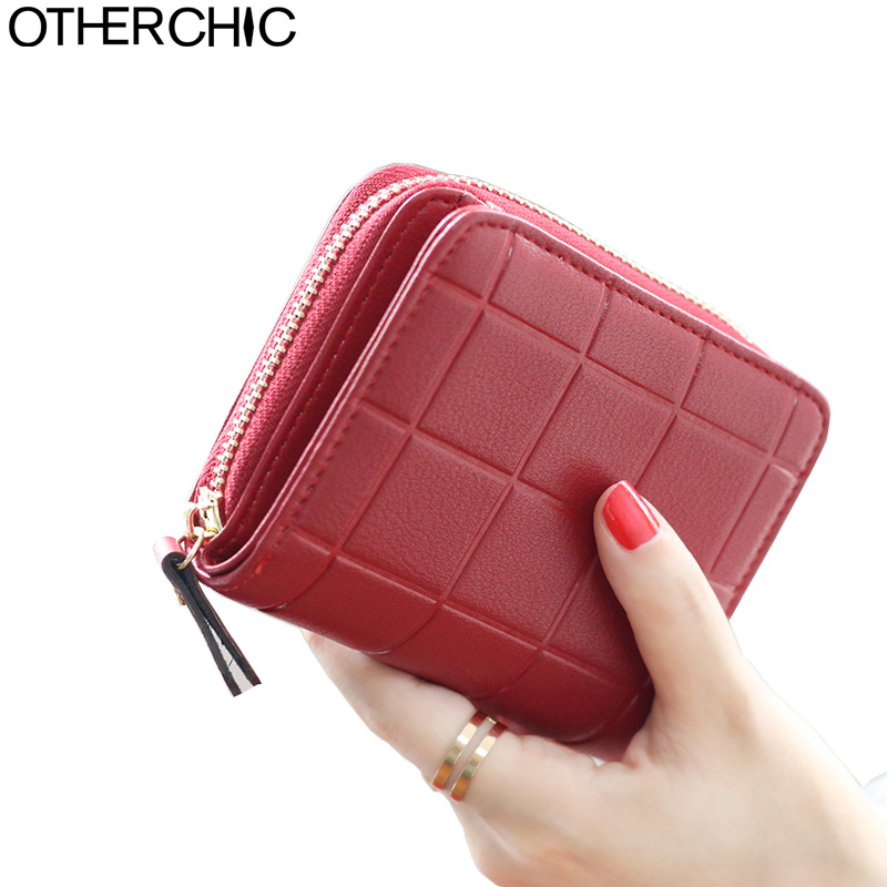 OTHERCHIC Fashion Women Short Wallets Ladies Small Wallet Zipper Coin Purse Credit Card Wallet Female Purses Money Bag 5N12-14 otherchic women short wallets small simple wallet zipper coin pocket purse woman female roomy wallet purses money bag 7n01 14
