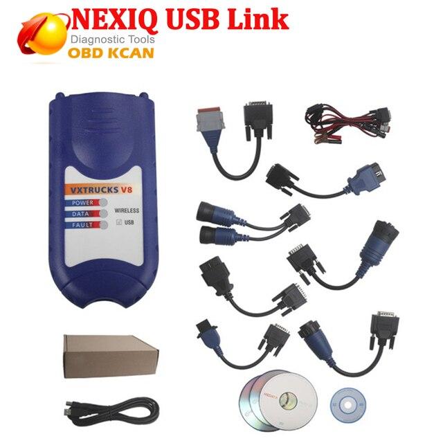 2016 Недавно Heavy Duty Truck Диагностический Сканер NEXIQ 125032 USB Link Грузовик Интерфейс + Программное Обеспечение Со Всеми Установщиков