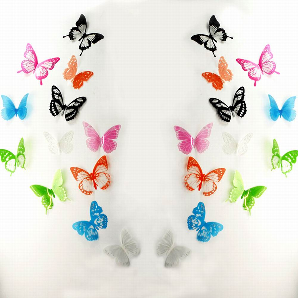 3D Butterfly Wall Decals Multicolor PVC Wall Stickers For TV Wall Kids Bedroom  Wall Home House Decoration ... Part 95