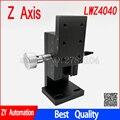 Z axis LWZ4040 ласточкин хвост ПАЗ ручной платформы стойки и шестерни привода высокой точности ручка тонкой настройки слайд ZWG40