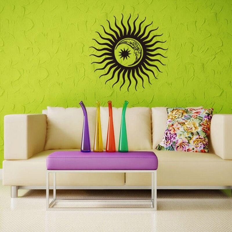 Sun Moon Zodiac Signs Stars Wall Decal Vinyl Sticker Home Decor Pvc Decoration Wallpaper Diy Art