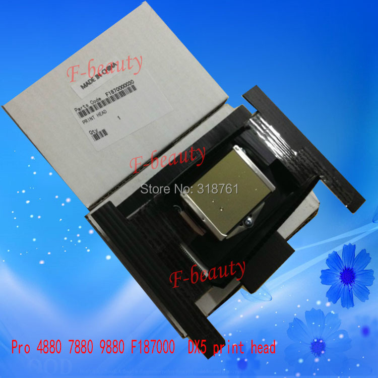 High quality New Original Print Head F187000 Printhead Compatible For Epson 4880 7880 9880 DX5 Printer Gold Surface Encryption vilaxh paper cutter blade for epson 4880 7800 9600 9880 9800 4800 7880 4000 4400 4450 9400 7600 printer for epson 4880 blade